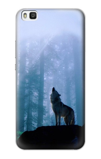 Printed Wolf Howling in Forest Huawei P8 Case