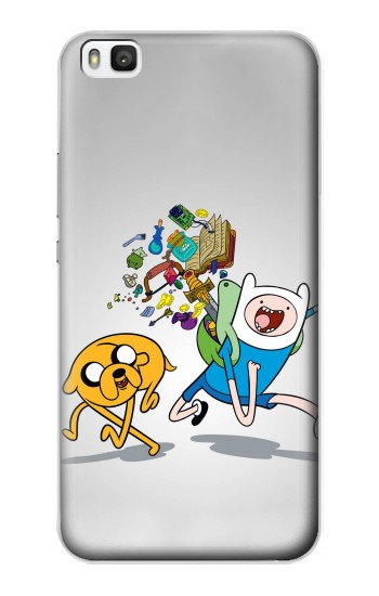 Printed Adventure Time Fin Jeck Huawei P8 Case