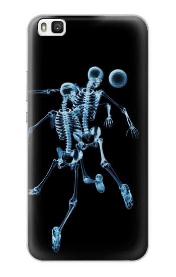 Printed Soccer X-ray Huawei P8 Case