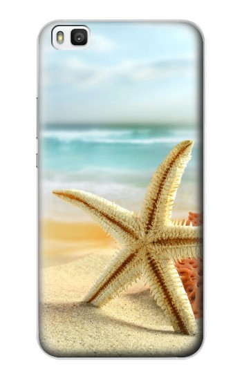 Printed Starfish on the Beach Huawei P8 Case