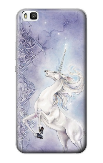 Printed White Horse Unicorn Huawei P8 Case