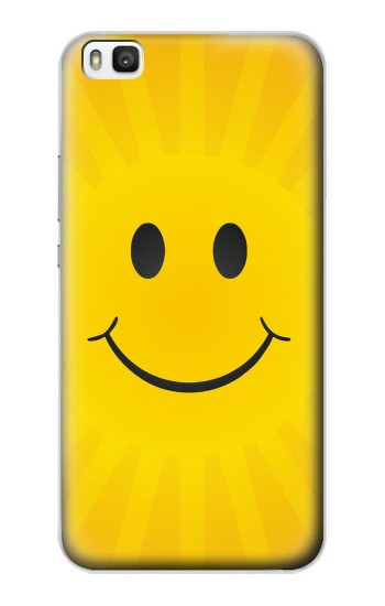 Printed Yellow Sun Smile Huawei P8 Case
