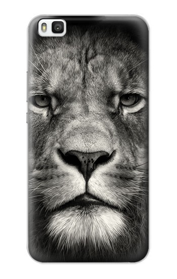 Printed Lion Face Huawei P8 Case