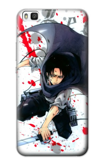 Printed Attack on Titan Rivaille Levi Huawei P8 Case