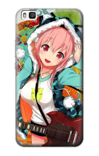 Printed Super Sonico Mega Cute Rocker Huawei P8 Case