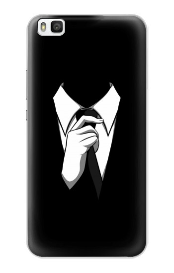 Printed Anonymous Man in Black Suit Huawei P8 Case