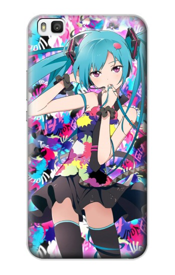 Printed Vocaloid Hatsune Miku Tell Your World Huawei P8 Case