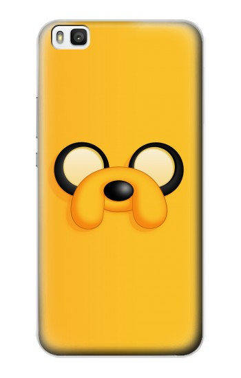 Printed Adventure Time Jake Face Huawei P8 Case