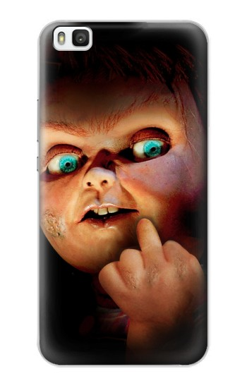 Printed Chucky Middle Finger Huawei P8 Case