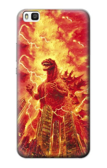 Printed Godzilla The Legend Is Reborn Huawei P8 Case
