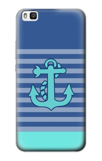 Printed Nautical Anchor Huawei P8 Case
