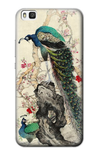 Printed Peacock Painting Huawei P8 Case