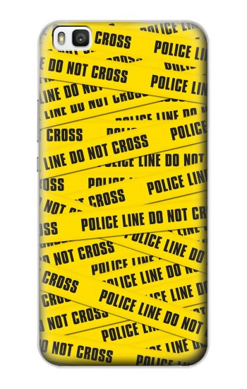Printed Police Line Do Not Cross Huawei P8 Case