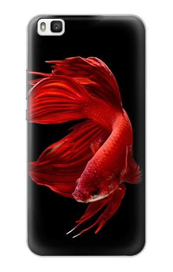 Printed Red Siamese Fighting Fish Huawei P8 Case