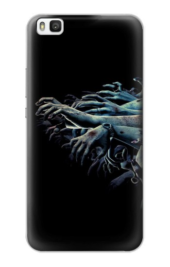 Printed Zombie Hands Huawei P8 Case