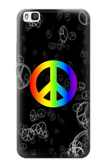 Printed Peace Sign Huawei P8 Case