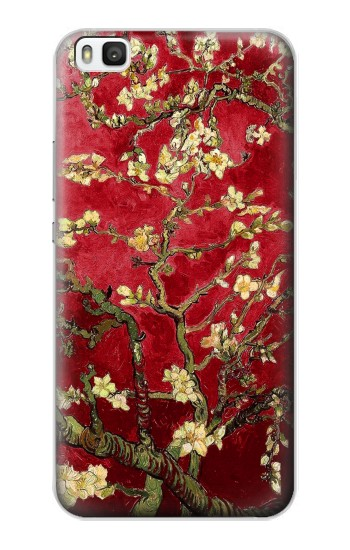 Printed Red Blossoming Almond Tree Van Gogh Huawei P8 Case
