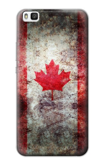 Printed Canada Maple Leaf Flag Texture Huawei P8 Case