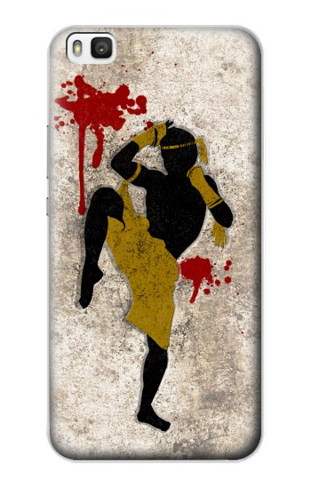 Printed Muay Thai Fight Boxing Blood Splatter Huawei P8 Case