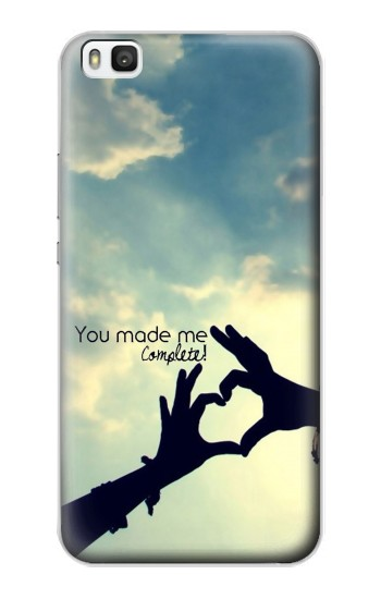 Printed You Made Me Complete Huawei P8 Case