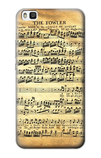 Printed The Fowler Mozart Music Sheet Huawei P8 Case