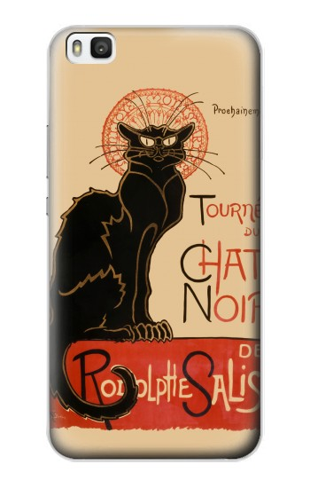 Printed Chat Noir The Black Cat Huawei P8 Case