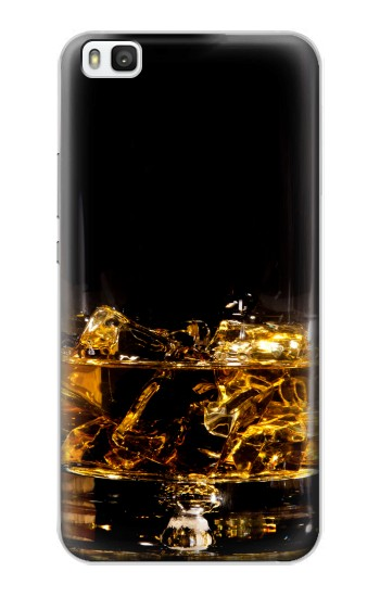 Printed Ice Whiskey Glass Huawei P8 Case