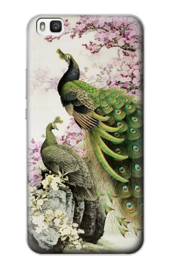 Printed Peacock Chinese Brush Painting Huawei P8 Case