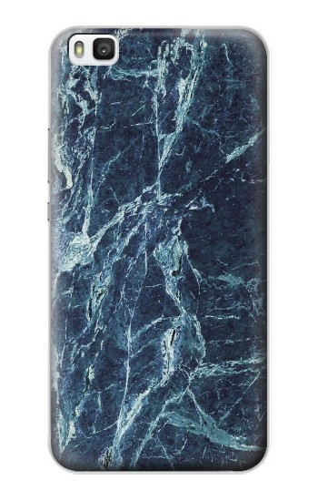Printed Light Blue Marble Stone Texture Printed Huawei P8 Case