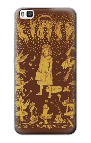 Printed Brown Fairy Book Cover Huawei P8 Case