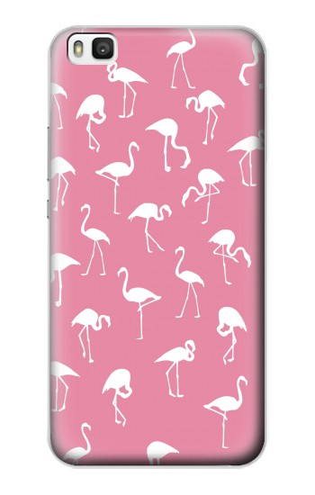 Printed Pink Flamingo Pattern Huawei P8 Case