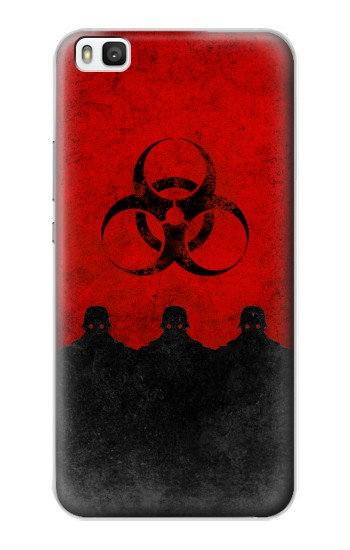 Printed Virus Red Alert Huawei P8 Case