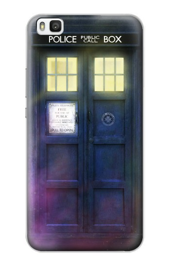 Printed Tardis Phone Box Huawei P8 Case