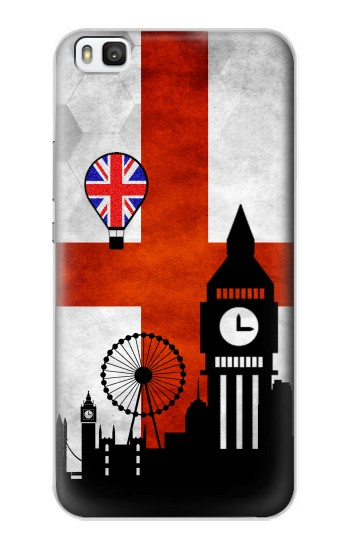 Printed England Football Flag Huawei P8 Case