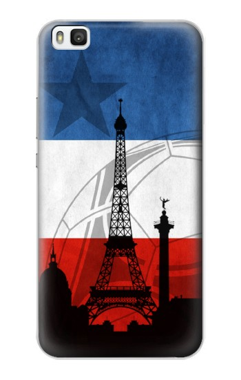 Printed France Football Flag Huawei P8 Case