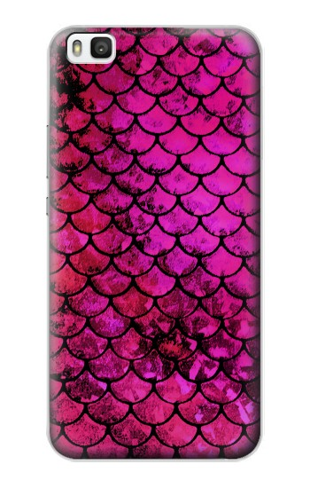 Printed Pink Mermaid Fish Scale Huawei P8 Case