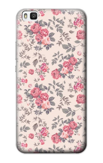 Printed Vintage Rose Pattern Huawei P8 Case