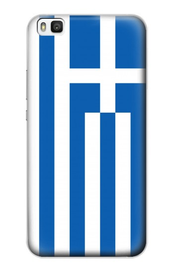 Printed Flag of Greece Huawei P8 Case