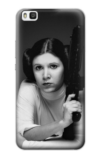 Printed Princess Leia Carrie Fisher Huawei P8 Case