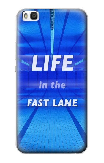 Printed Life in the Fast Lane Swimming Pool Huawei P8 Case