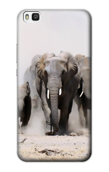 Printed African Elephant Huawei P8 Case