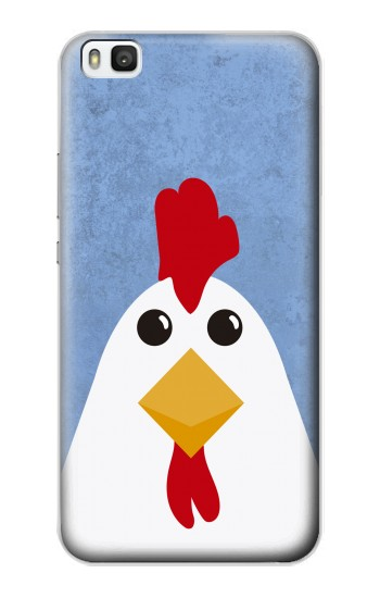 Printed Chicken Cartoon Huawei P8 Case