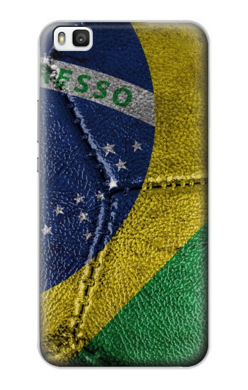 Printed Brazil Flag Vintage Football 2018 Huawei P8 Case