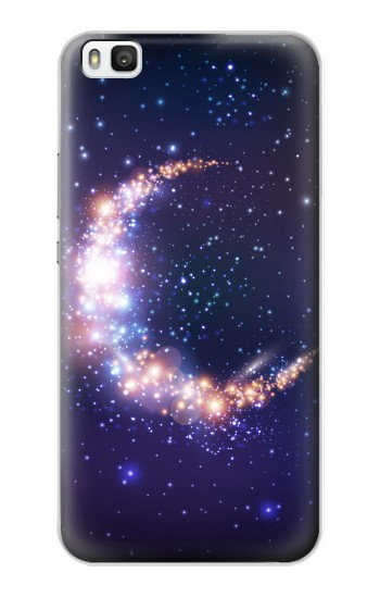 Printed Crescent Moon Galaxy Huawei P8 Case