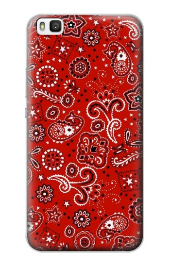 Printed Red Bandana Huawei P8 Case