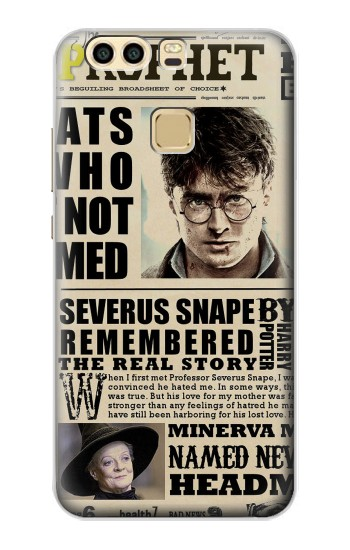 Printed Harry Potter Daily Prophet Huawei P9 Case
