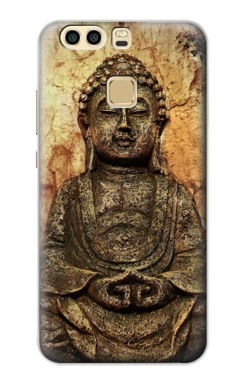 Printed Buddha Rock Carving Huawei P9 Case