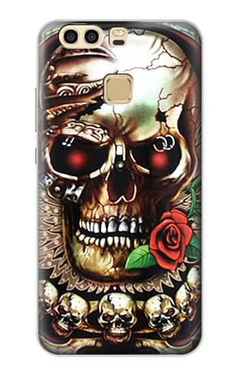 Printed Skull Wing Rose Punk Huawei P9 Case