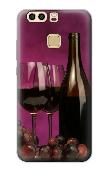 Printed Red Wine Huawei P9 Case