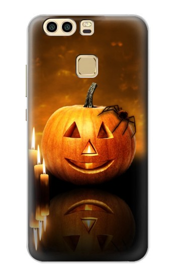 Printed Pumpkin Spider Candles Halloween Huawei P9 Case